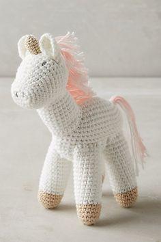 Crocheted Unicorn Toy #anthropologie
