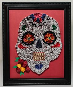 Day of the Dead Paper Quilled Wall Art or Dia de los Muertos on Etsy, $35.00