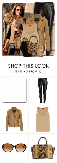 """""""Chic with synthetic leather"""" by breathing-style ❤ liked on Polyvore featuring Michael Kors, Morgan, SET, Missoni, Marni, MICHAEL Michael Kors and Raye"""