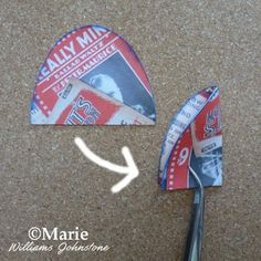 Fold the paper oval in half lengthways
