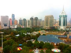 Labor Park Dalian China, Seattle Skyline, Ferris Wheel, Park, Travel, Viajes, Parks, Destinations, Traveling