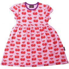 $36 Cherry Summer Dress - ittikid • Scandinavian Children's Clothes - Scandinavian Baby and Kids Clothes | Organic Eco Friendly Kids Clothes from Smafolk, Maxomorra, Duns Sweden, Sture & Lisa