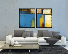 """ABSTRAKTE Malerei Large Abstract Original-Gemälde Acrylgemälde zeitgenössische Kunst 48 """"x 30"""" von ARTbyLESTstudio auf Etsy https://www.etsy.com/de/listing/155058918/abstrakte-malerei-large-abstract"""