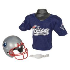 New England Patriots NFL Youth Helmet and Jersey Set