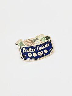Butter Cookie Sewing Kit Pin // Hard Enamel Enamel Pin Pin