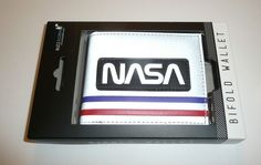NASA Bifold Wallet Officially Licensed Logo Space Astronaut Buzz Aldrin Reflect #Bioworld #Bifold