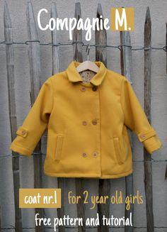 Patron gratuit : un manteau en taille 2 ans