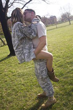 Patriotic Engagement Photos - Military Engagement Photos | Wedding Planning, Ideas & Etiquette | Bridal Guide Magazine