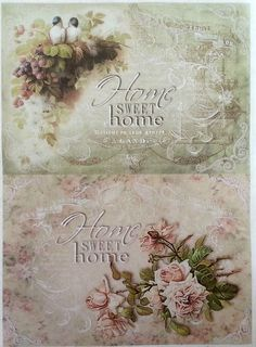 Rice Decoupage Paper / Decoupage Sheets / Scrapbooking / SWEET HOOME 1 Vintage
