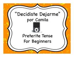 Popular song and accompanying activities for learning the preterite tense in Spanish