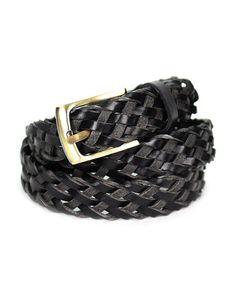 Casual Leather Belt lbo38-black