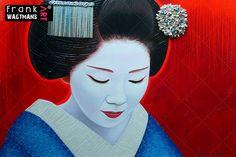 Geisha Painting by Frank Wagtmans
