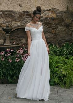 1f4c9d8c5c8 Sincerity Bridal - Style 44068  Off the Shoulder A-Line Gown with Beaded  Neckline
