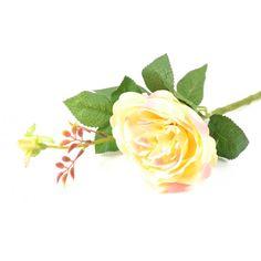 Umelá ruža - žlto-ružová (výška 44 cm)