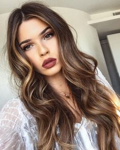 long brown hair balayage