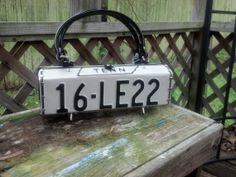 Cute license plate purse