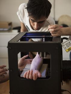 Antoine Goupille may be the first human tattooed by a 3-D printer :)