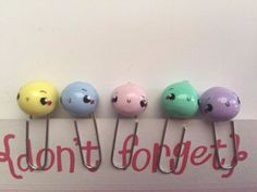 Set of 5 Pastel MIMO MIMO Paper Clips