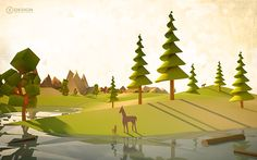Low Poly-Cubic on Behance