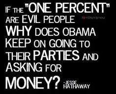 Just saying.....HE AND HIS FAMILY ARE THE 1% AGAINST WHICH THEY BADMOUTH★★ VACATIONS, SHOPPING SPREES, GOLF??? WHEN IS THE LAST TIME YOU ★PUT GAS IN YOUR CAR, ★BOUGHT GROCERIES, ★ PAID BILLS, AND SAW ANYTHING LEFT OTHER THAN PITTANCE? ? WAKE UP, USA!