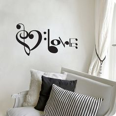 Music Notes Spelling Love