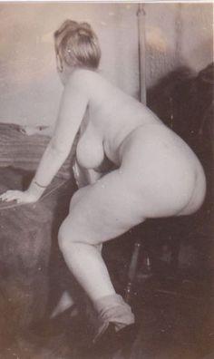 Vintage chubby nude