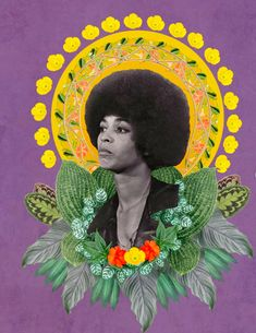 Angela Davis by (Ruben Marquez) Angela Davis, Queer Art, Feminist Art, Feminist Quotes, Afro Art, Magic Art, Arte Popular, Surreal Art, American Artists