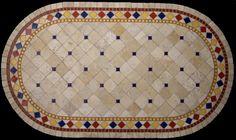 Tile Mosaic Art Deco Table Top