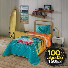 781e970e96 Edredom Infantil 100% Algodão Estampado Surf - Lepper