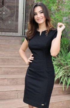 vestido trabalho preto