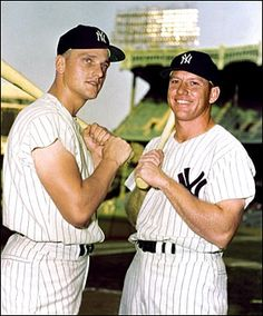 Mickey Mantle and Roger Maris chase Babe Ruth's record in 1961