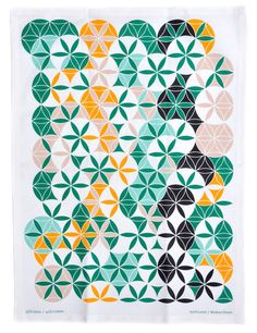 Green forest Tea towel   LEIF Ven diagram!