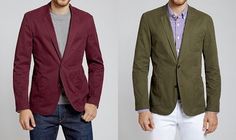 "Bonobos Chino Blazers - ""Not. Cheap. BUT… if you're looking to translate a little of the bright-color summer style into fall and winter, a colorful but muted option like either of these might be a solid play. Also available in the more expected navy and khaki shades. Ships free and returns are super easy. Ninja service. Made from the same excellent fabric that their washed chinos are cut from."""