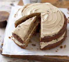 Apple & walnut cake with treacle icing recipe, This easy all-in-one cake is perfect if you've got friends coming for coffee or afternoon tea Apple Cake Recipes, Easy Cake Recipes, Baking Recipes, Fun Recipes, Simple Recipes, Healthy Recipes, Coffee And Walnut Cake, Coffee Cake, Bbc Good Food Recipes
