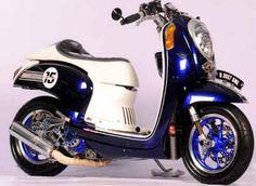Modifikasi Honda Scoopy FI Touring Simple