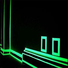 grønn fluorescens klistremerke natt lysende bånd stripe merket dekorasjon for trapp dør motorsykkel bil lysende bånd reflekterende