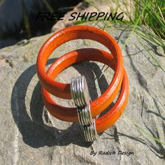 Licorice Leather Bangle Bracelet