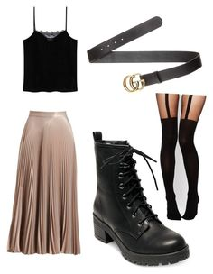 Untitled #56 by denisa-gabriela on Polyvore featuring polyvore, fashion, style, MANGO, A.L.C., ASOS, Madden Girl, Gucci and clothing