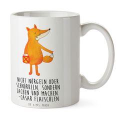 Tasse Fuchs Laterne aus Keramik