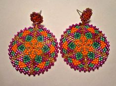 Tutorial Orecchini pendenti Samba - Mandala - Tecnica circolare Peyote Rocailles e Delica Miyuki #pendant #stars #pendantonetsy #etsyseller #etsyshop #etsystar #etsytutorial