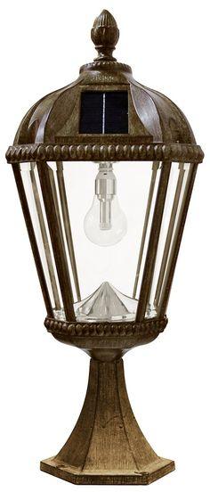 Gama Sonic Royal - 23 11 LED Solar Post Mount with GS Solar Light Bulb - Outdoor Lighting - Post - Transitional Solar Lamp Post Light, Solar Light Bulb, Solar Post Lights, Lamp Post Lights, Solar Powered Lights, Solar Led, Light Led, Solar Lanterns, At Least