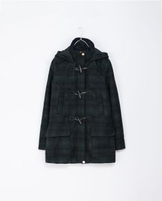 ZARA - TRF - SHORT DUFFLE COAT WITH TOGGLES