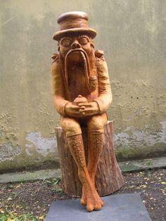 Dřevěná socha - Vodník