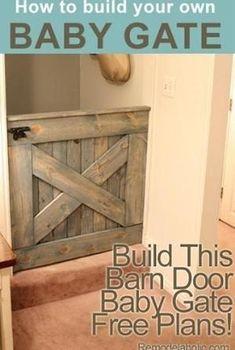 :) DIY Barn Door Baby Gate (Plans and photos!) I l by elinor