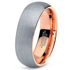 Tungsten Wedding Band Ring 7mm for Men Women Comfort Fit 18K Rose Gold Plated Domed Brushed Lifetime Guarantee Charming Jewelers http://www.amazon.com/dp/B00M26RRJ2/ref=cm_sw_r_pi_dp_XRL0ub12PMRHJ