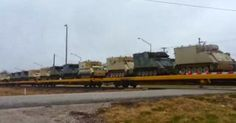 Huge Military Transport Train On Move in Texas, Fully Loaded Down!!! What Are They Preparing For? ~ CultNation