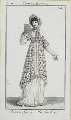 A Jewish style pelisse according to the description. Most unusual looking. Journal des dames et des modes, 1803