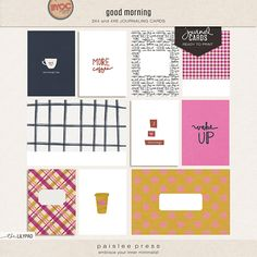Good Morning Journaling Cards by paislee press