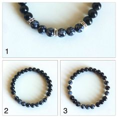 Balance and Grounding ~ Genuine Snowflake Obsidian & Black Onyx Bracelets  ~ 6mm Beads ~ Choose from 3 Styles