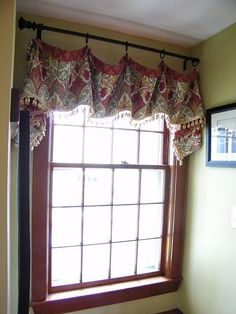 valances, maybe could be done with a table runner to change out easily